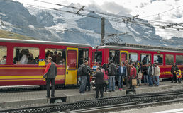 Train station interlaken Royalty Free Stock Photo