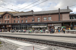 Train station interlaken Royalty Free Stock Image
