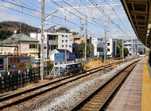 Train station in Kamakura, Japan Royalty Free Stock Images