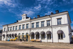 Train station in Karlskrona. Sweden, on August 10, 2104. Station provides direct links to Gothenburg, Malmo, Stockholm and other Swedish cities. In 2007 direct Royalty Free Stock Image
