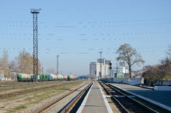 Train station in Kerch Royalty Free Stock Image