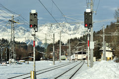 Train station in Kitzbuhel, Austria Royalty Free Stock Images