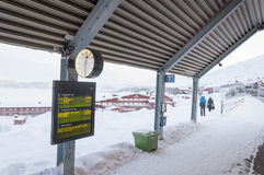 Train station in Lapland Royalty Free Stock Image