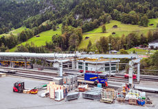 Train station of Lauterbrunnen Stock Photography