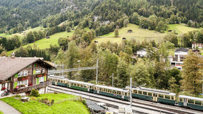Train station of Lauterbrunnen Stock Image