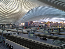Train Station of Liege Guillemins, Belgium Stock Photo