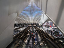 Train Station in Liege-Guillemins Royalty Free Stock Photo