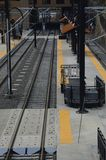 Train station for light rail Royalty Free Stock Photography