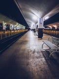 Train station lights stock image