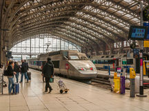 Train station Lille Flandres Royalty Free Stock Photography