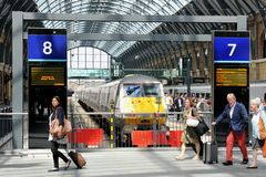Train station in London, UK Stock Image