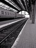 Train station. Lviv travel platform city town railway way Royalty Free Stock Images