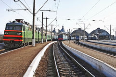 Train station in Lvov Stock Photography