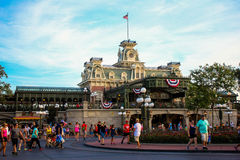 Train Station at Magic Kingdom. Royalty Free Stock Photo