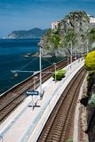 Train station in Manarola, Cinque terre Royalty Free Stock Images