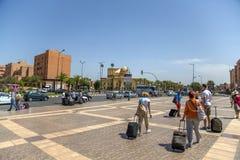 Train station in Marrakesh, Morocco Stock Photo
