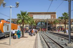 Train station in Marrakesh, Morocco Royalty Free Stock Photos