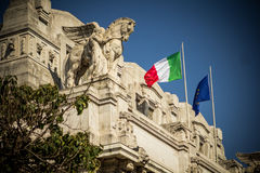 Train station in Milan Italy. Outside the train station in Milan Italy Royalty Free Stock Photos