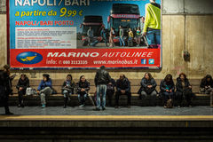 Train station, Naples, Italy. Stock Photography