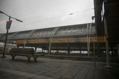 Train station in the netherlands Royalty Free Stock Photo