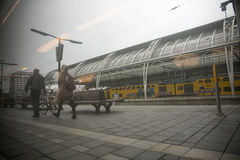 Train station in the netherlands Stock Photo