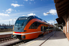 Train in station. New rrain waiting in station Stock Image