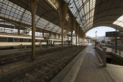 Train station in Nice, France. Nice is the fifth most populous city in France and the capital of the Alpes-Maritimes département stock image