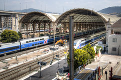 Train station in Nice, France Stock Photos