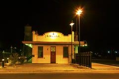 Train Station at night Stock Photo