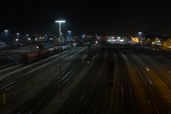 Train station at night stock images