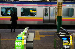 Train station Niigata Stock Photography