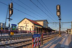 Train Station Nijkerk. In the Netherlands Royalty Free Stock Photography