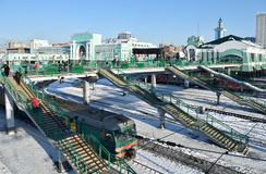 Train station of Novosibirsk, Russia Stock Images