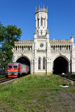 Train station of Novy Peterhof, St. Petersburg, Russia Royalty Free Stock Photography