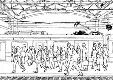Train Station (outline) Royalty Free Stock Photography