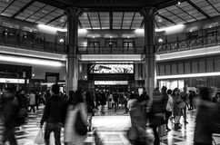 Train station people in motion Royalty Free Stock Image