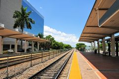 Train station perspective, South Florida Stock Photos