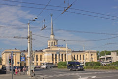 Train station in Petrozavodsk, Russia Stock Image