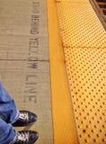 Train station platform Stock Images