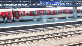 Train station of Poprad stock images