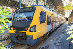Train at the station of Porto, Portugal Stock Photography
