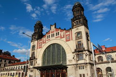 Train Station. PRAGUE, CZECH REPUBLIC - JULY 09, 2015: Cental Train Station in Prague, Czech Republic. Praha hlavni nadrazi  is the largest and most important Royalty Free Stock Photos