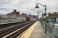 Train Station at Prospect Avenue. The train station at Prospect Avenue in New York City Stock Photography