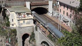Train Station in Riomaggiore (5 of 5) stock footage