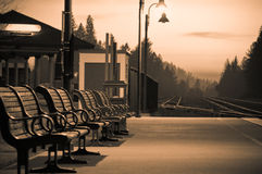 Train station. A rural train station in Colfax, Ca Royalty Free Stock Photography