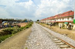 Train station. The rural train station in somwhere of Thailand Royalty Free Stock Images