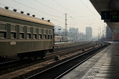 Train Station. It's a world of Steel. This is Baoji Station Royalty Free Stock Images