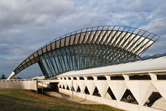 Train Station at Saint-Exupery Airport, Lyon Stock Photography