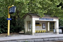 Train station of Sainte Cecile d`Andorge Stock Photos