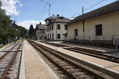 Train station of Santa Maria Maggiore in Italy Stock Images